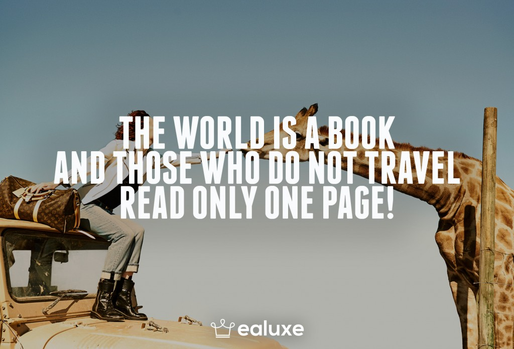 Ealuxe 100 quotes on motivation success overcoming obstacles and life get inspired (66) The world is a book and those who do not travel read only one page!