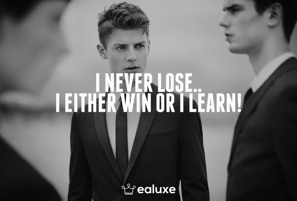 Ealuxe 100 quotes on motivation success overcoming obstacles and life get inspired (80) I never lose.. I either win or I learn!