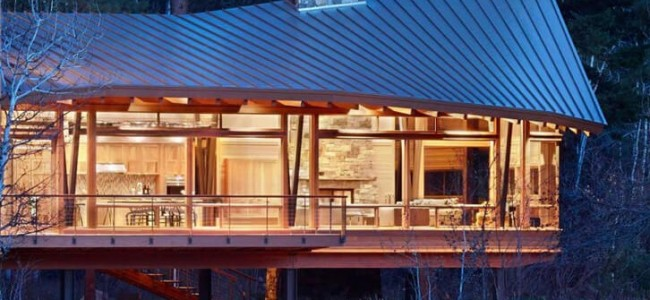 Step Inside The Japanese Looking Luxurious Mazama House From Washington State