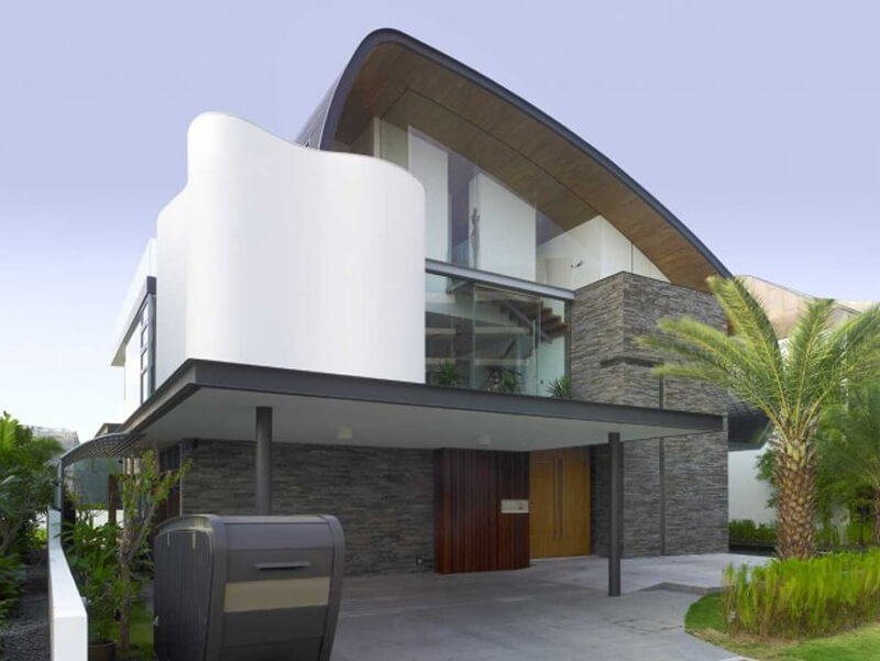 Nautical Lines Features A Curvaceous Roof Design 5