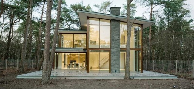 The Villa Kerckebosch From Netherlands Is A Luxurious Retreat Surrounded By Trees