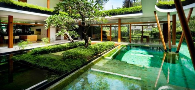 Water Lily House – An Exquisite Luxury Home From Singapore With An Impeccable Landscape
