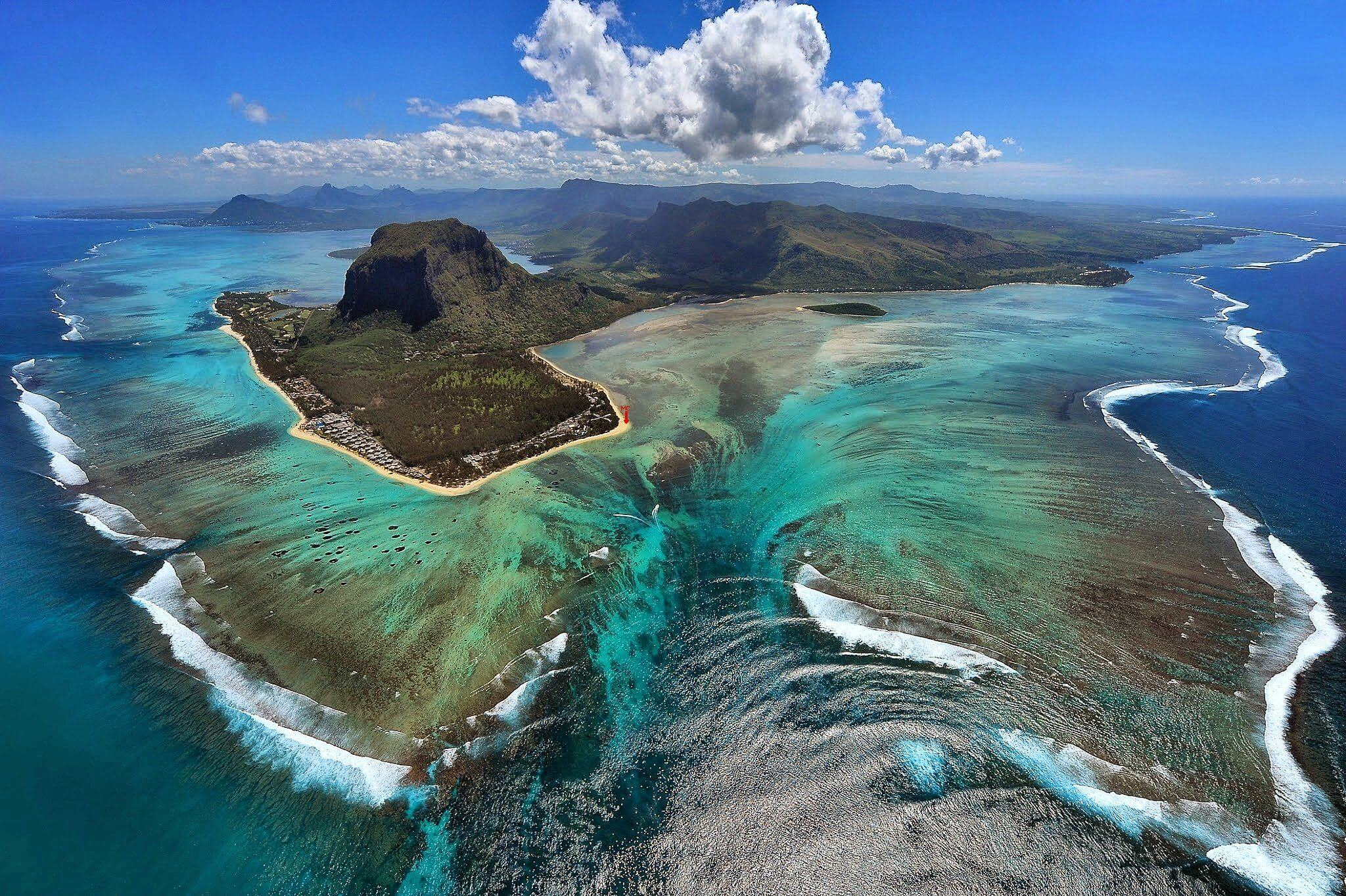 #12 Mauritius | Unbelievable Skydiving Sites | Image Source: zepelintour.ro