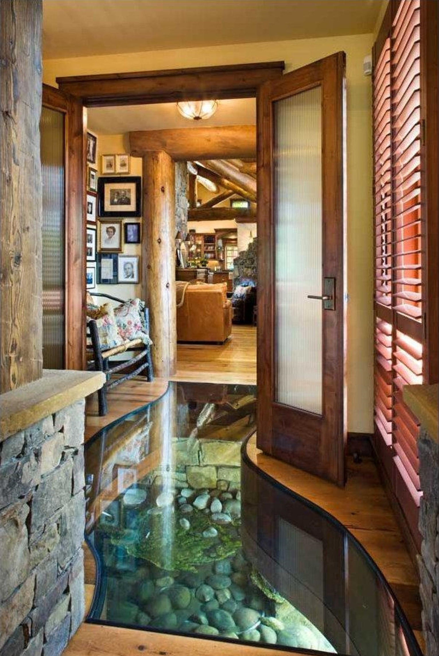 #9 Glass Floor Creek   Features Every Million Dollar House Has To Have   Image Source: gosocial.co