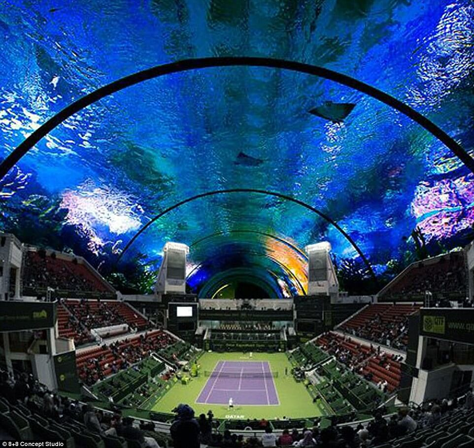 Polish Architect Wants To Build Underwater Tennis Court in Dubai
