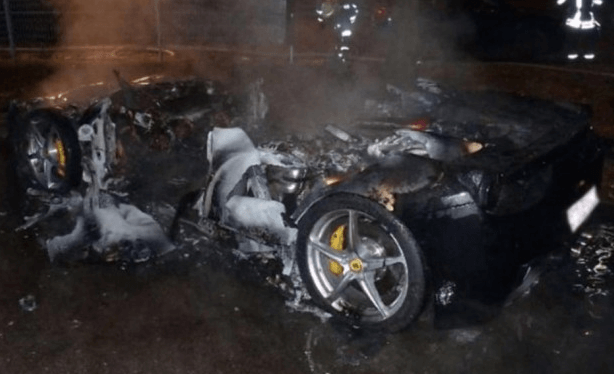 Spoiled Rich Kid Sets His Ferrari On Fire Because He Wanted A New One