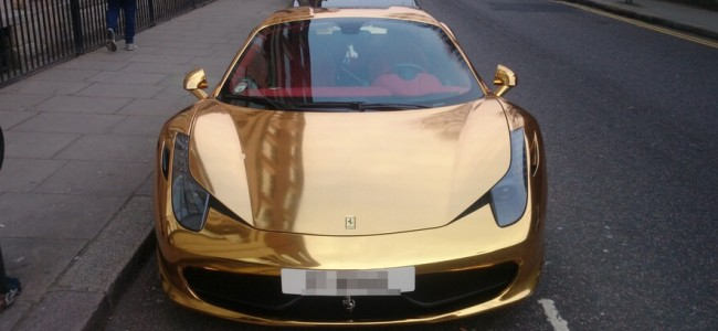 The Gold-Plated Ferrari Exists and It Costs Around £200,000
