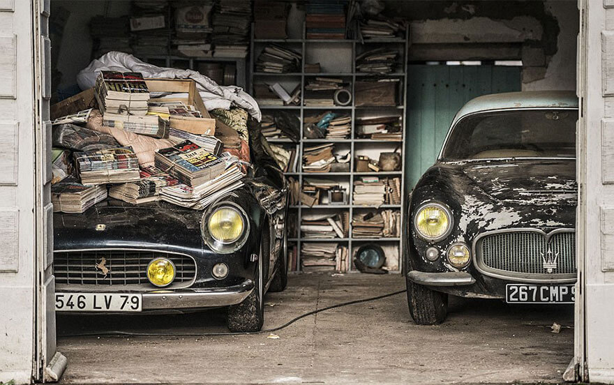 These 60 Vintage Cars Were Found On a French Farm after 50 Years of Neglect