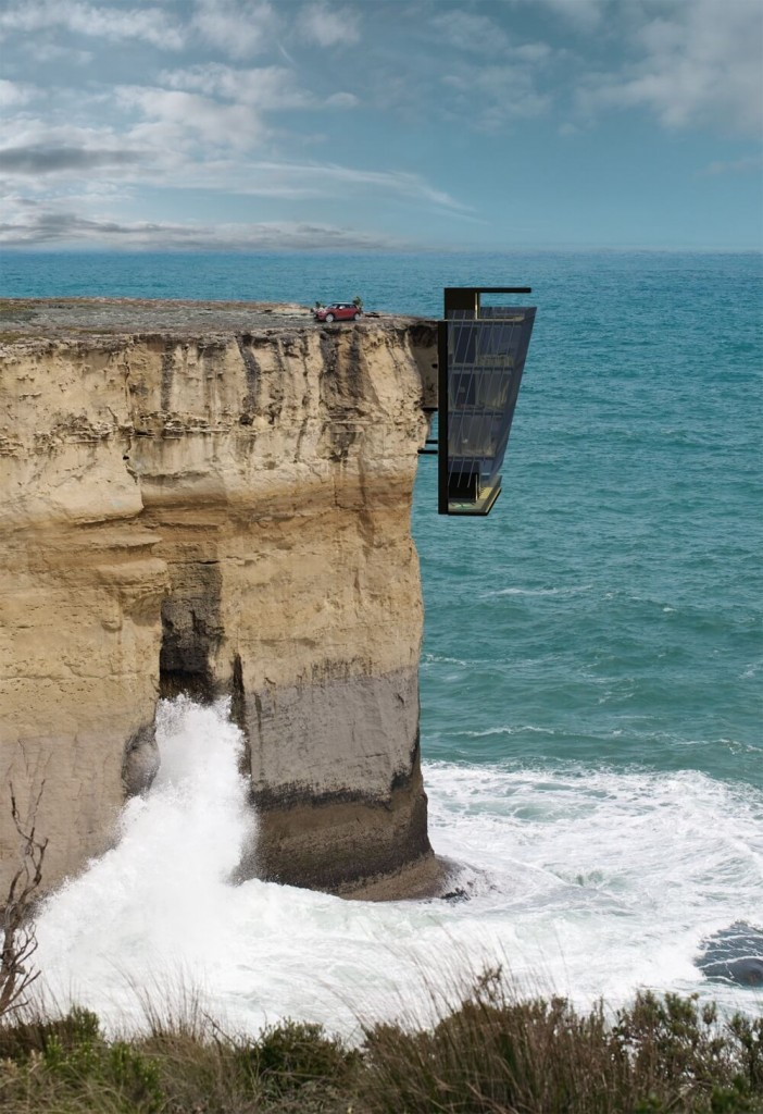 This Cliff House Designed By Modscape Is Suspended Above the Australian Ocean