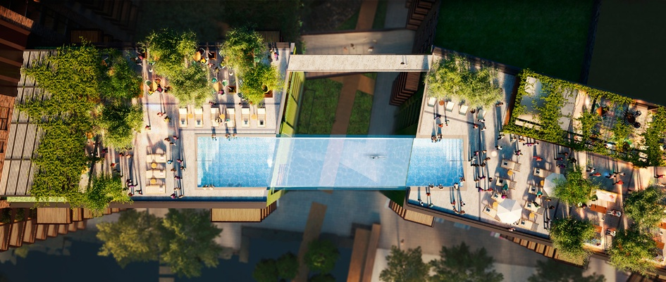 The First Glass-Bottomed Sky Pool