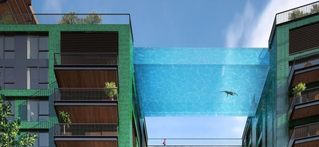 Would You Swim 115 Feet Above London in The First Glass-Bottomed Sky Pool?