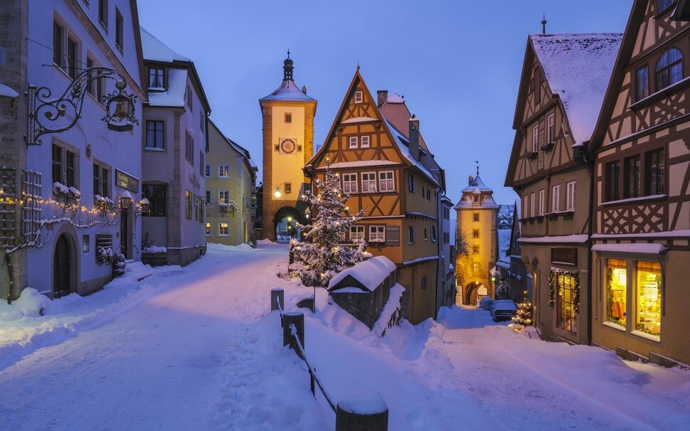 1. Rothenburg ob der Tauber, Germany || These 20 Photos of Winter Towns Will Make You Love Snow Even More