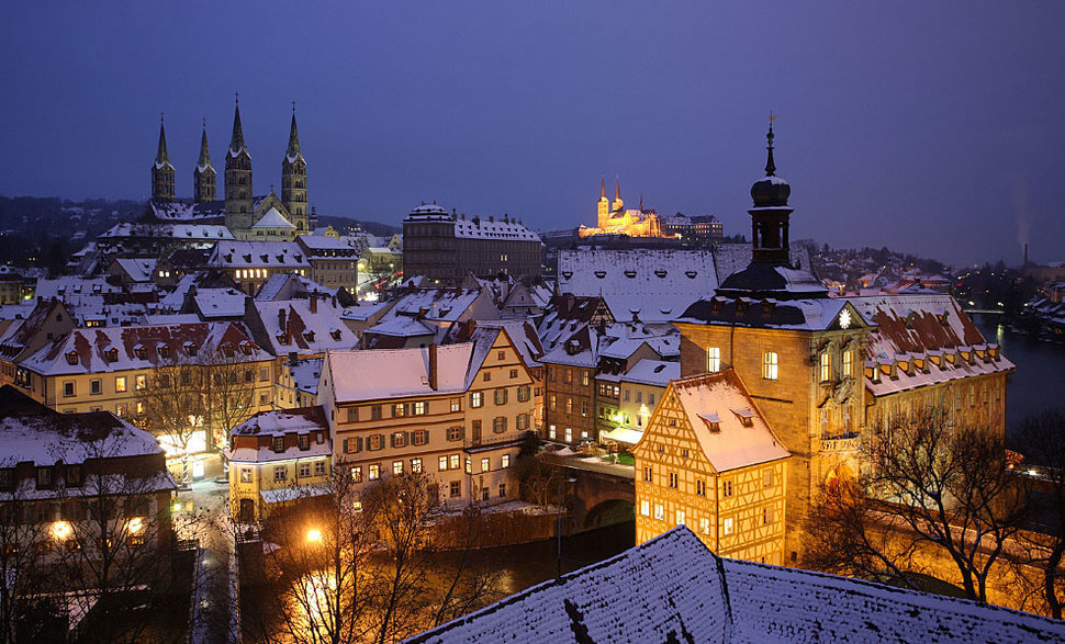 10. Bamberg, Germany || These 20 Photos of Winter Towns Will Make You Love Snow Even More