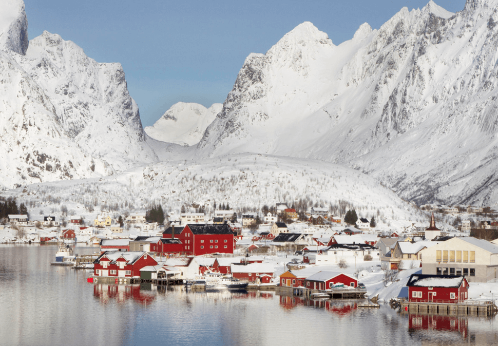 14. Reine, Norway    These 20 Photos of Winter Towns Will Make You Love Snow Even More