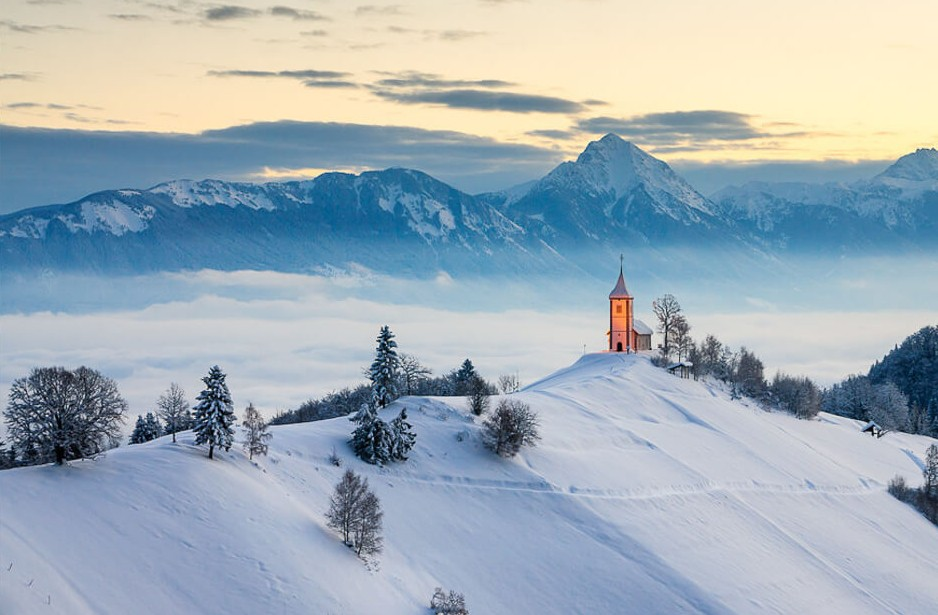 18. Jamnik, Slovenia    These 20 Photos of Winter Towns Will Make You Love Snow Even More