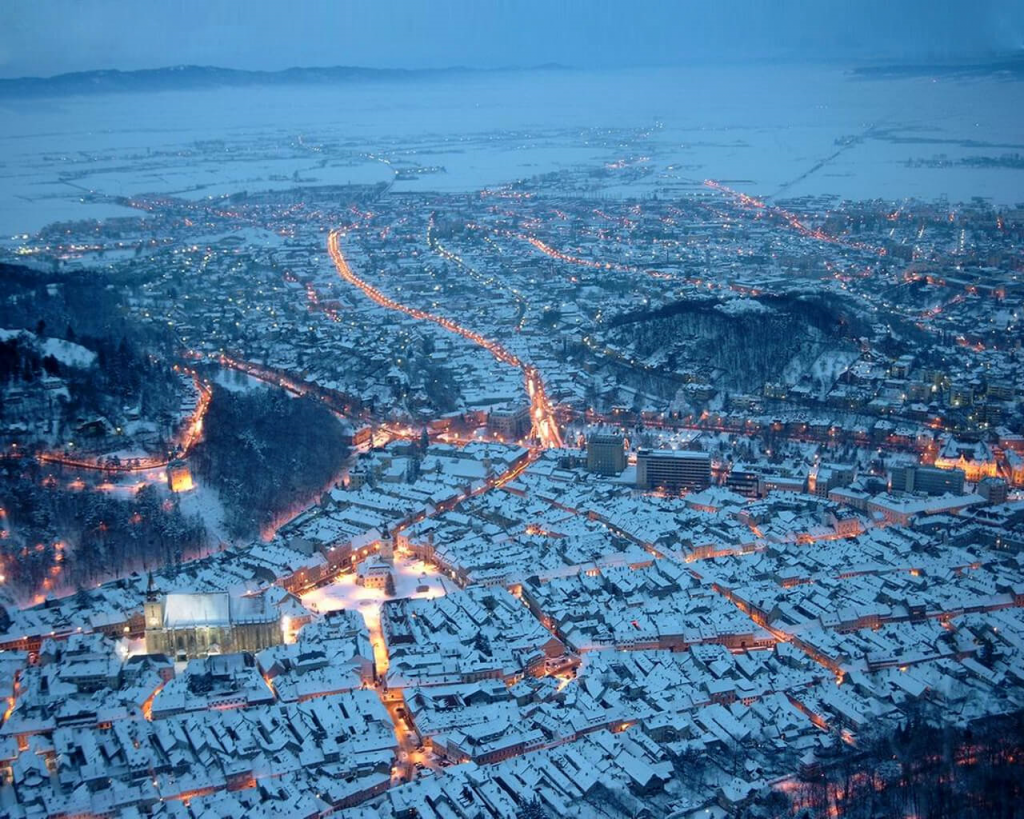 20. Brasov, Romania    These 20 Photos of Winter Towns Will Make You Love Snow Even More