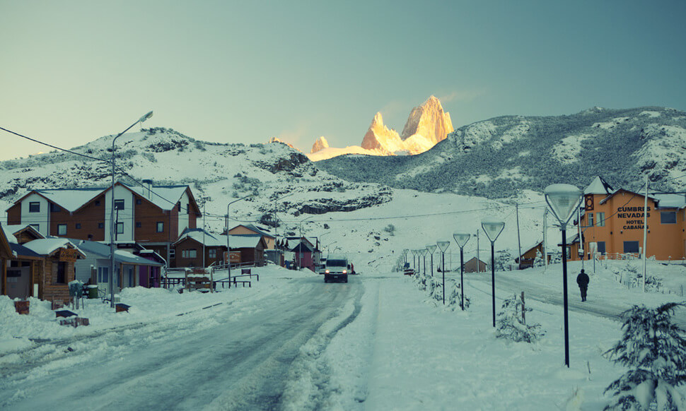 3. El Chaltén, Argentina || These 20 Photos of Winter Towns Will Make You Love Snow Even More