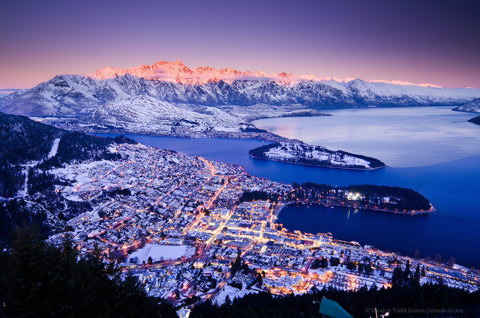 4. Queenstown, New Zealand || These 20 Photos of Winter Towns Will Make You Love Snow Even More