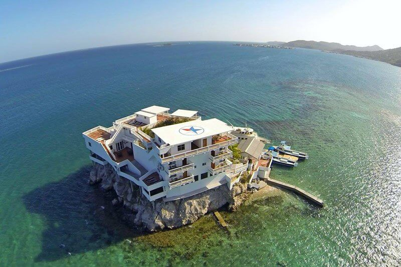 Check out this Driver's Paradise Built on A Rock and Surrounded by Reef