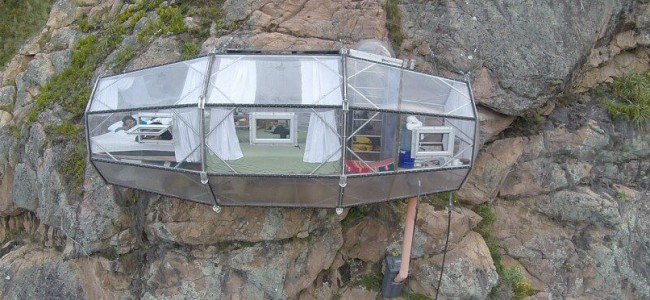 Amazing Hotel Hosts Guests In Clear Capsules Suspended 400 ft. On Mountain