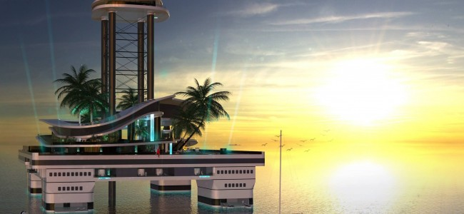 The Mobile Private Island Is a Futuristic Portable Island That Billionaires Will Buy