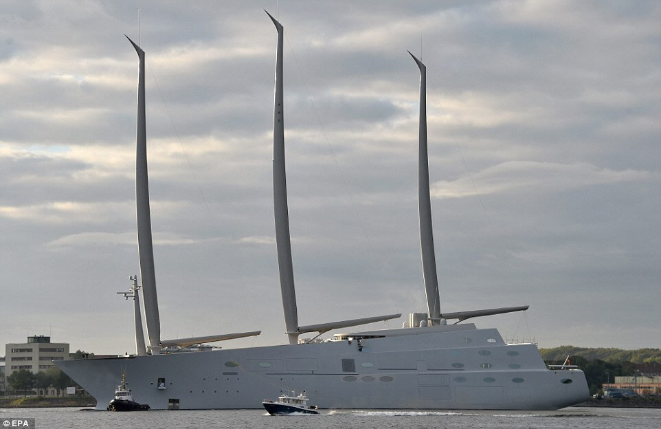 The World's Biggest Sailing Ship Belongs to Russian Billionaire Andrey Melnichenko
