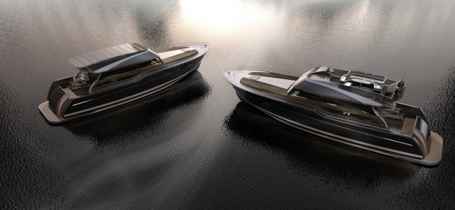 """46' yacht """"Gran Torino"""" that lifts furniture with concept of BATMOBILE"""