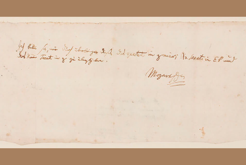 A Rare Handwritten Letter by Mozart Sells for $217,000 at Auction