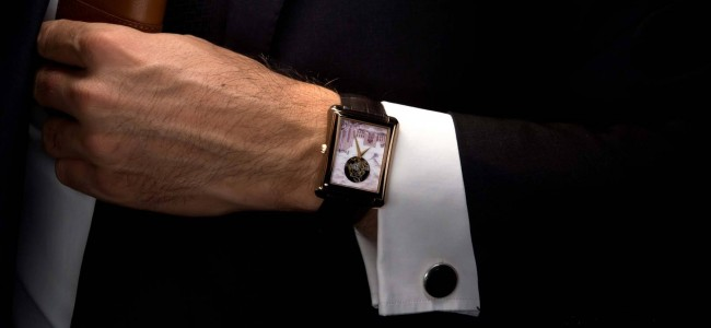 A True Gentleman's Accessory: Piaget Emperador Tourbillon Xl Miniature Enamel Watch