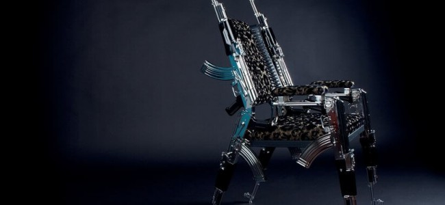 The First AK47 Designer Chair is Perfect for Art Lovers