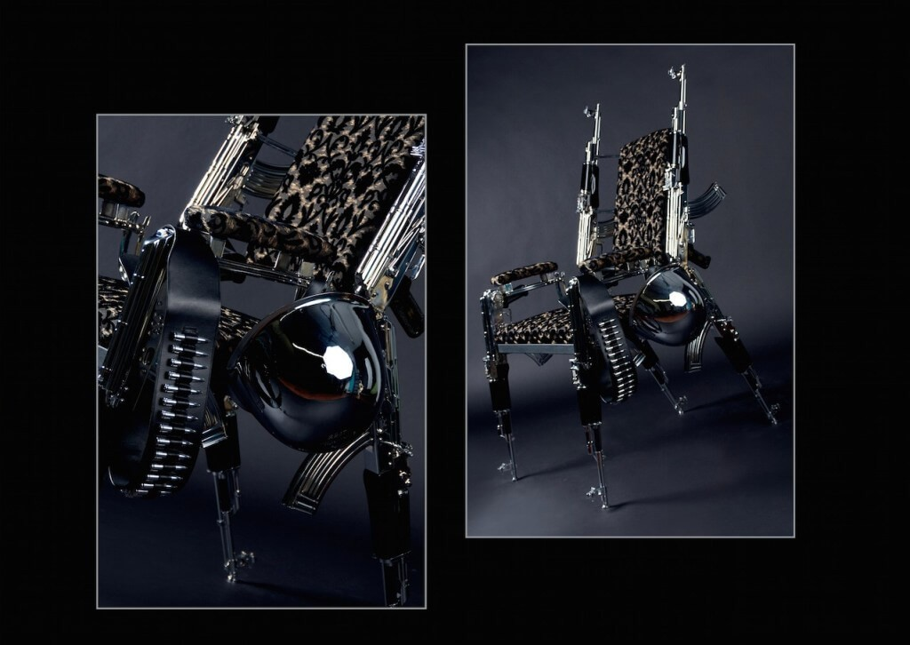 The First AK47 Designer Chair by Artist Rainer Weber is a Unique Piece of Furniture