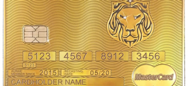 The World's First Bespoke Solid Gold MasterCard comes from Aurae