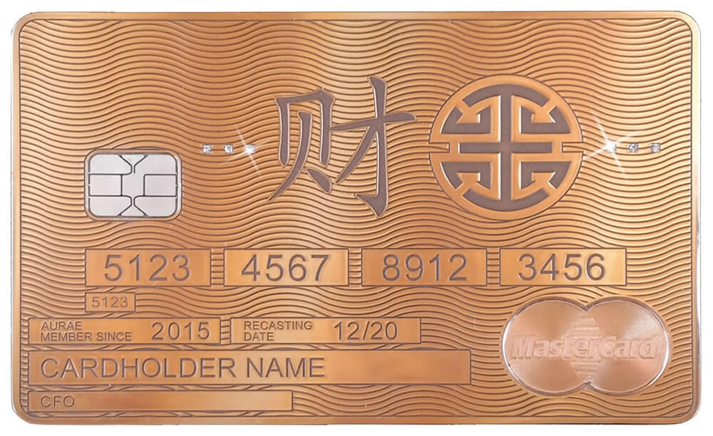 This is World\'s First Bespoke Gold MasterCard Launched By Aurae