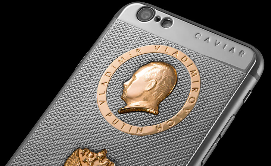 iPhone 6s with Putin's Gold Head by Caviar Are A Thing, Just Because