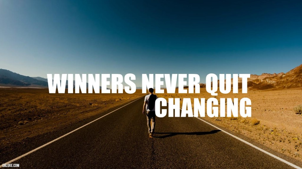 winners never quit changing