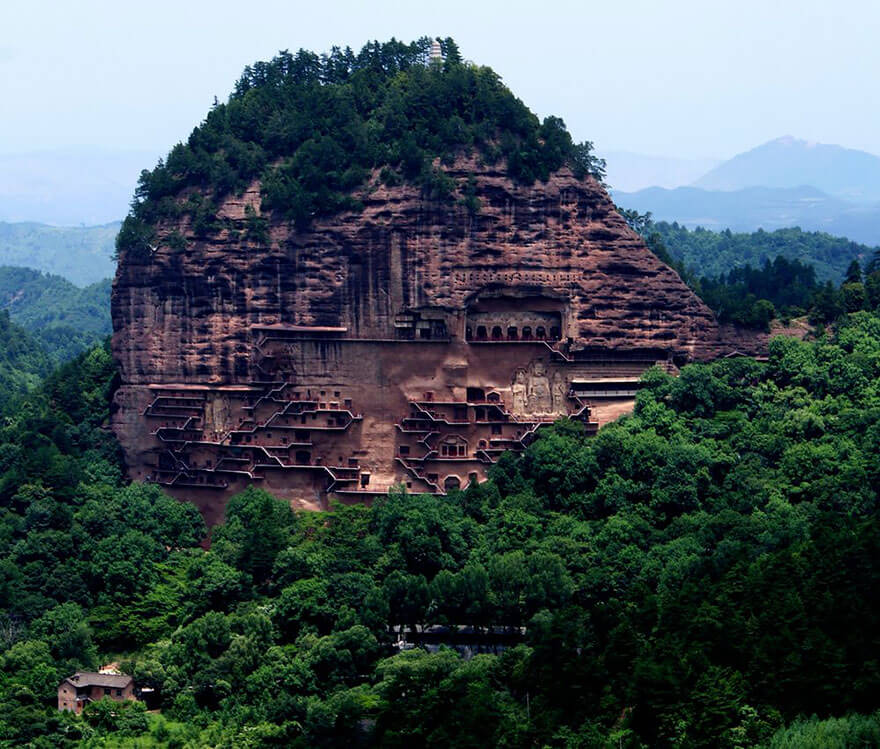 Maijishan Grottoes from absolutechinatours.com
