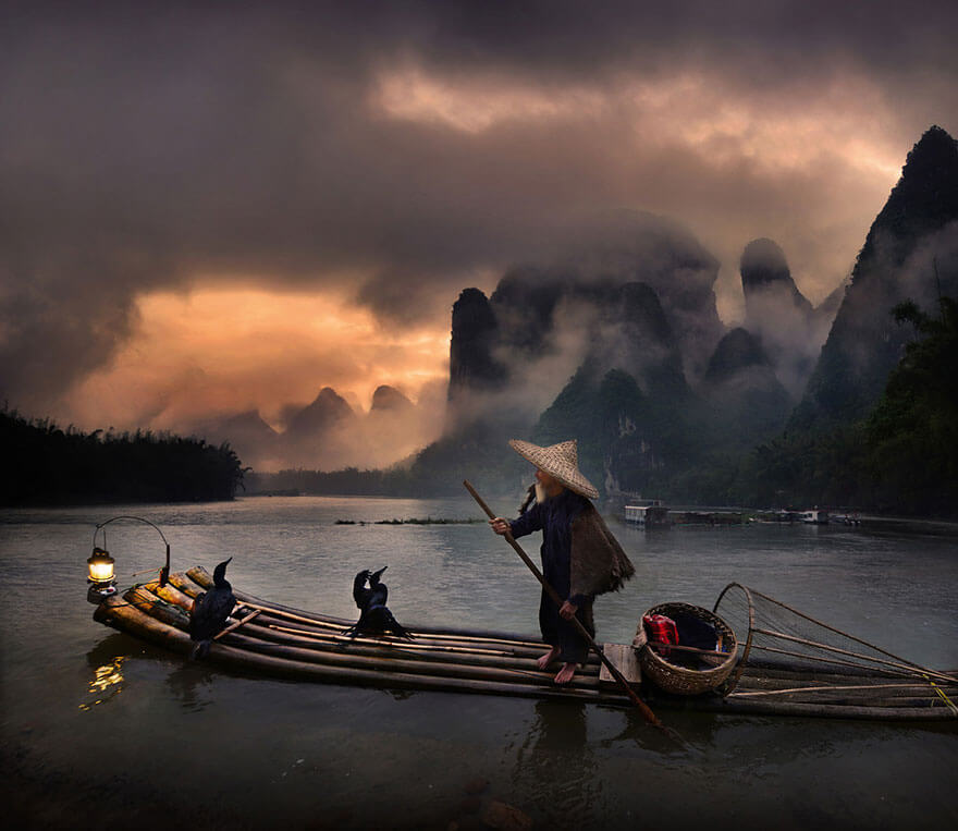 Li River by Weerapong Chaipuck