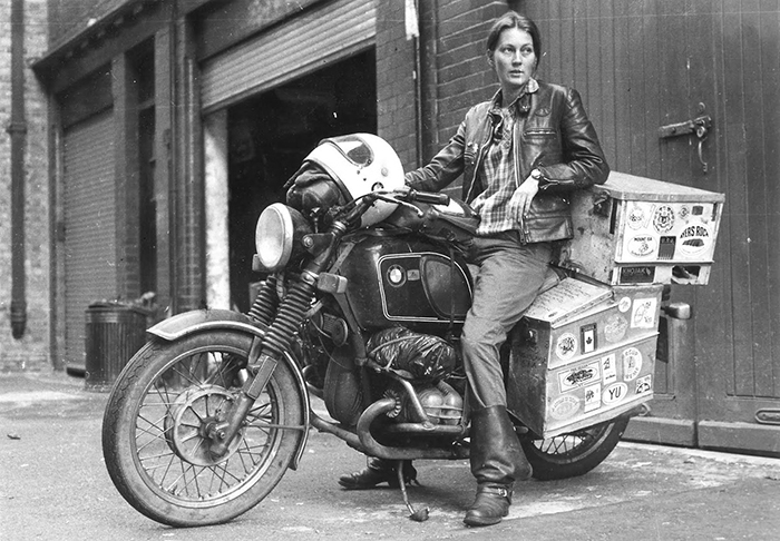 1980s Elspeth Beard, First Englishwoman To Ride A Motorbike Around The World