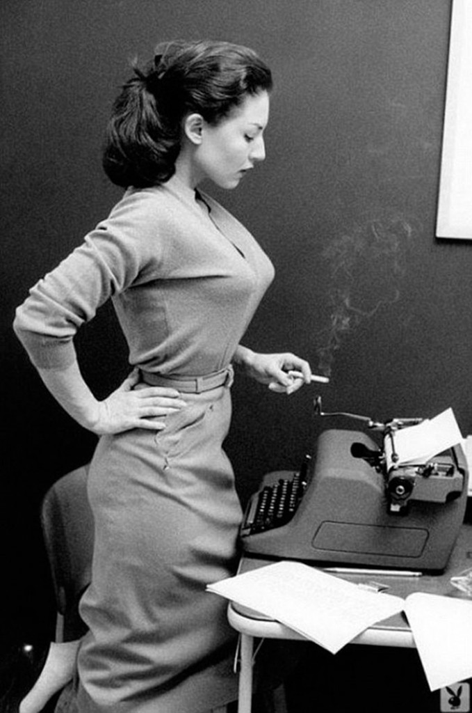 1957- Alice Denham And Her Royal Hh Typewriter