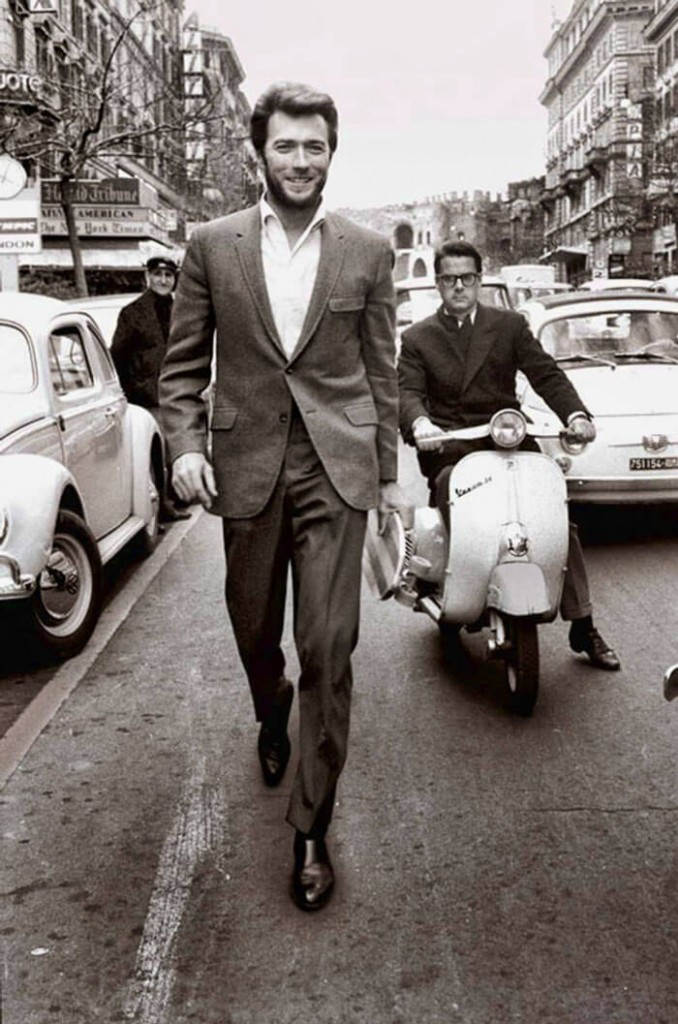 1960s- Clint Eastwood Walking In Rome