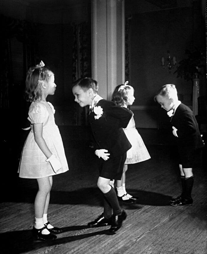 1945- Children In Ballroom Dancing Class