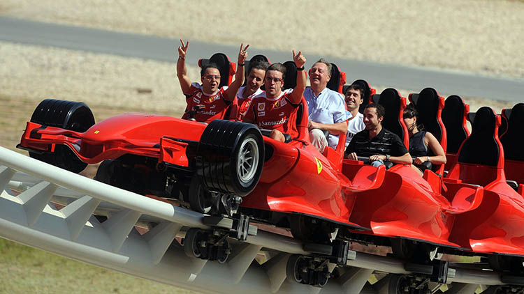 In which city is the Ferrari World, the largest Ferrari themed park in the world?