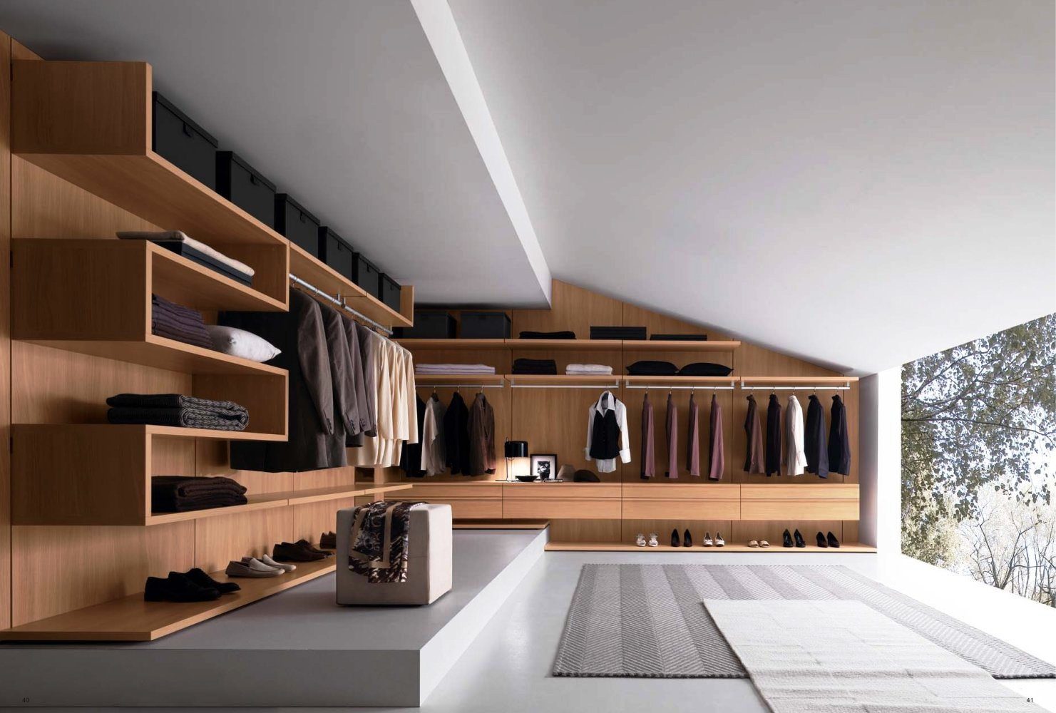 walk in closet modern gentleman