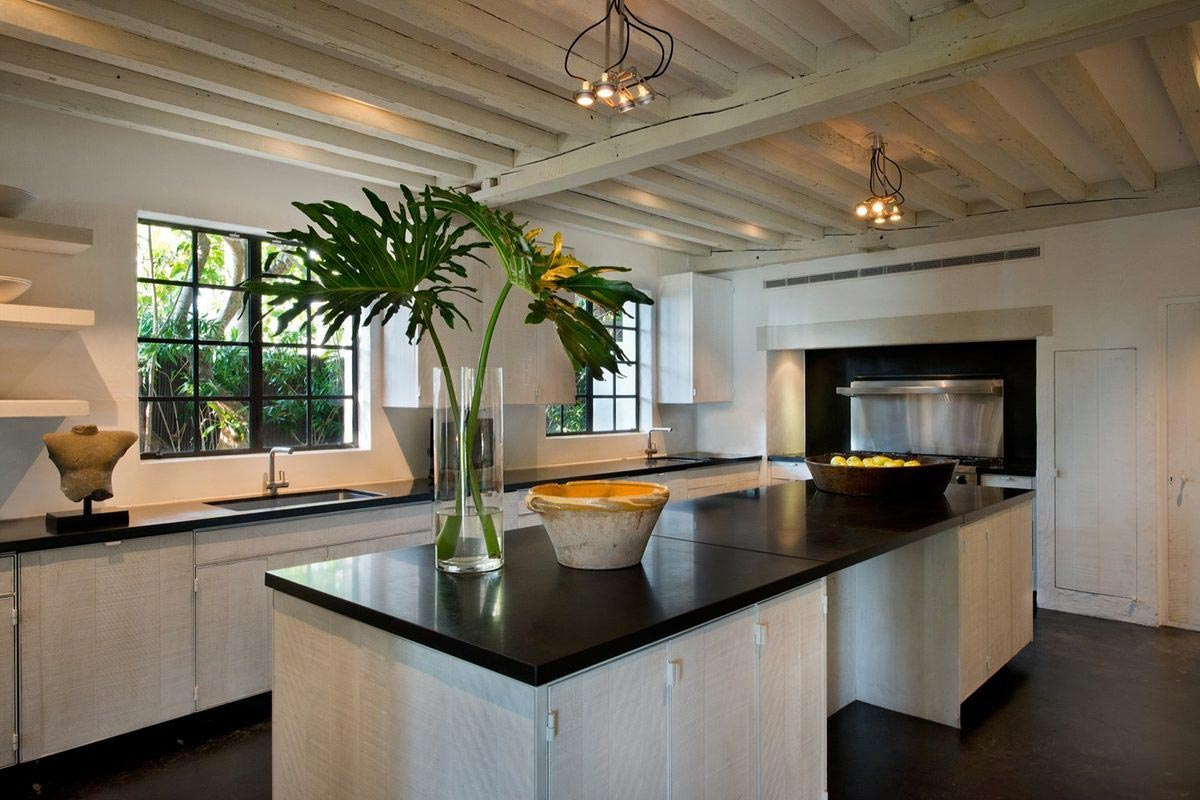 Calvin Klein's Miami Beach House is Up For Sale 16 million interior exterior pictures alux (10) Modern Kitchen Perfectly Blended into the Old Mood of the House