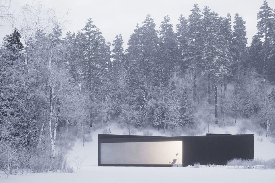 Geometric Winter House by WOJR in New York (1)