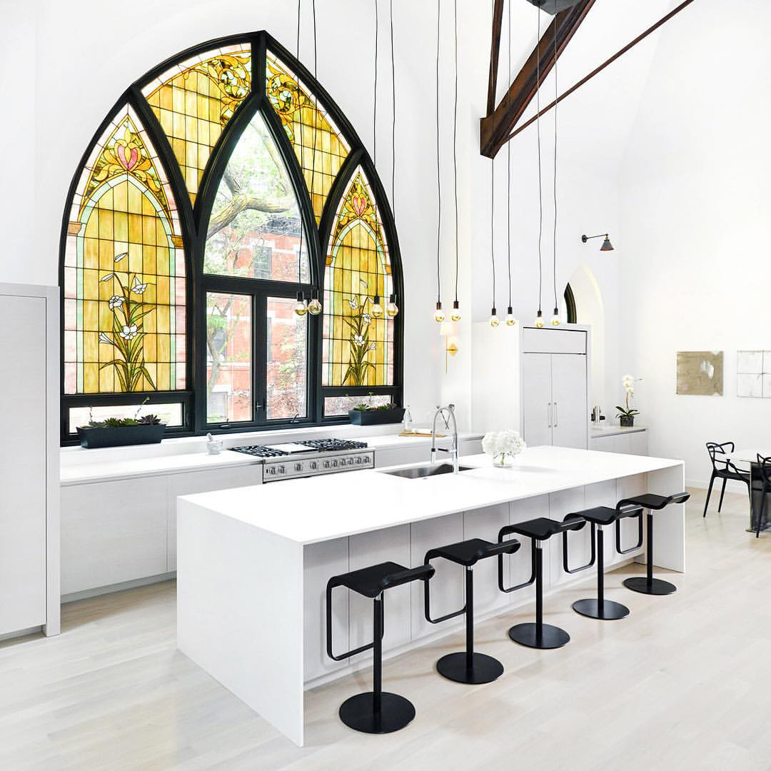 Heavenly family home resurrected from a Twentieth Century church in Chicago's Little Italy neighbourhood