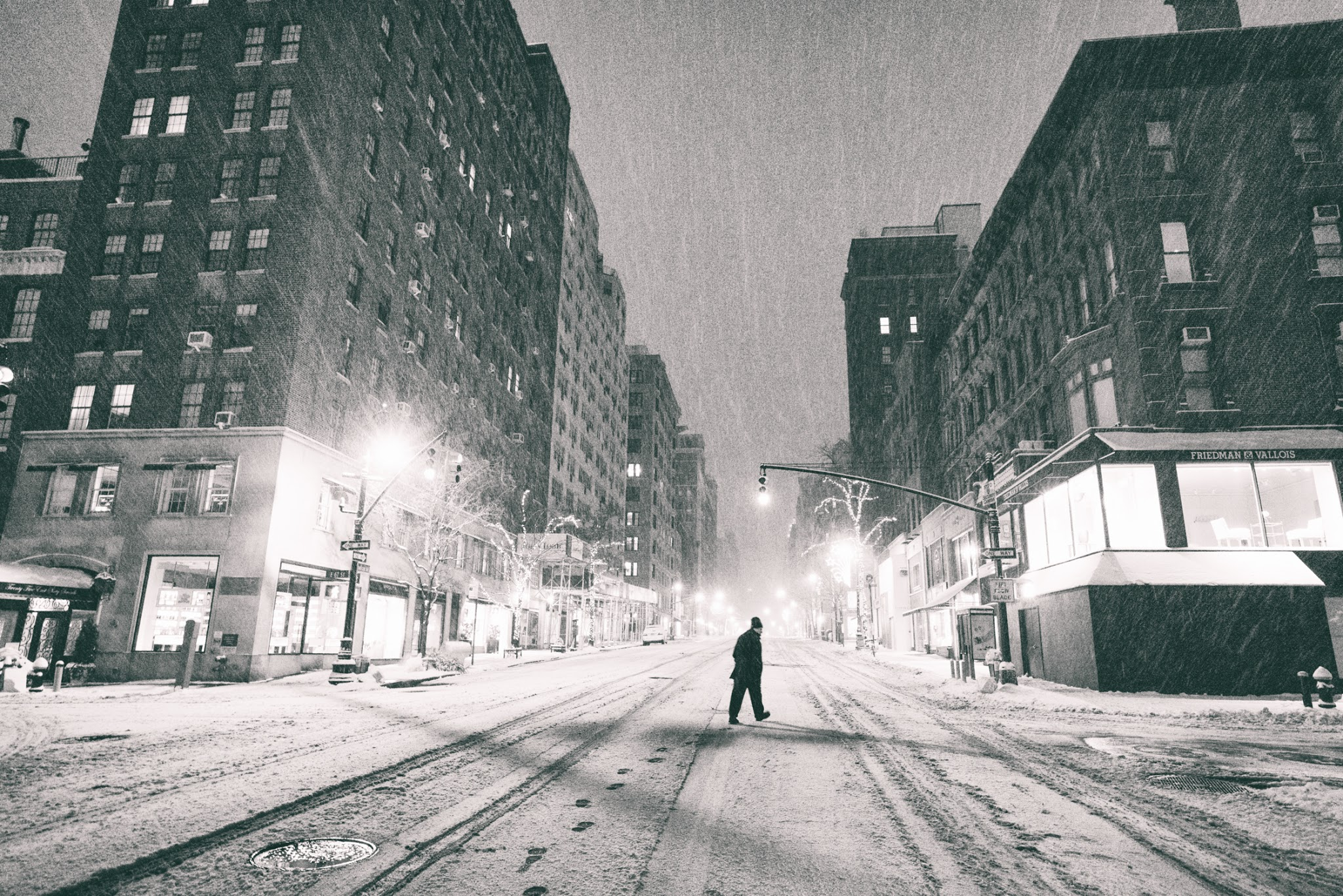 New York City - Snow at Night - Empty Streets - Upper East Side (1 of 1)-3