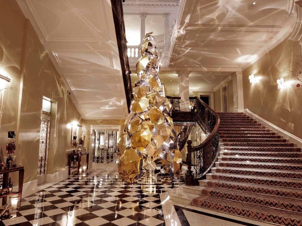 The Burberry Christmas Tree at Claridge's