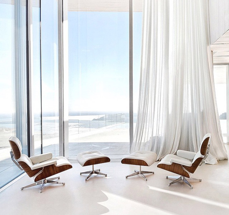 eames chairs gorgeous view