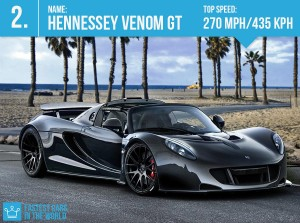 fastest cars in the world hennessey venom gt